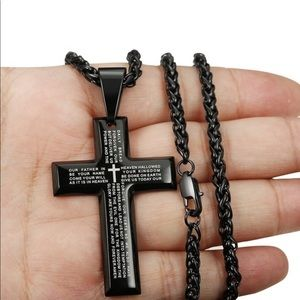 Other - Lords Prayer scripted cross.